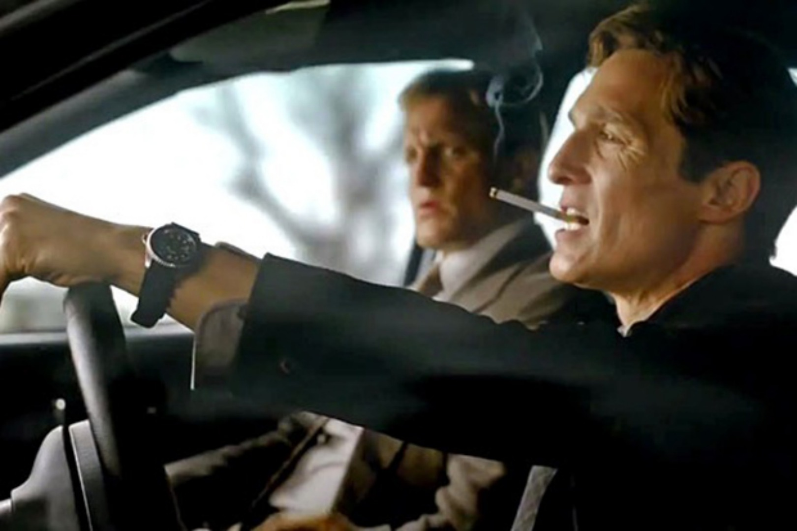 HBO's 'True Detective'trailer -- Pictured: Matthew McConaughey and Woody Harrelson (Screengrab)